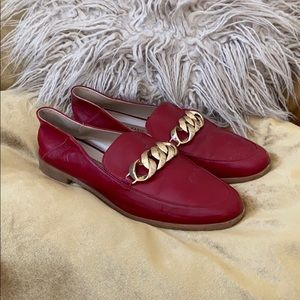 Red Zara Loafers
